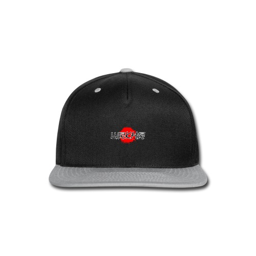 Logo Brush Black/Red | Faux Pocket - Snap-back Baseball Cap