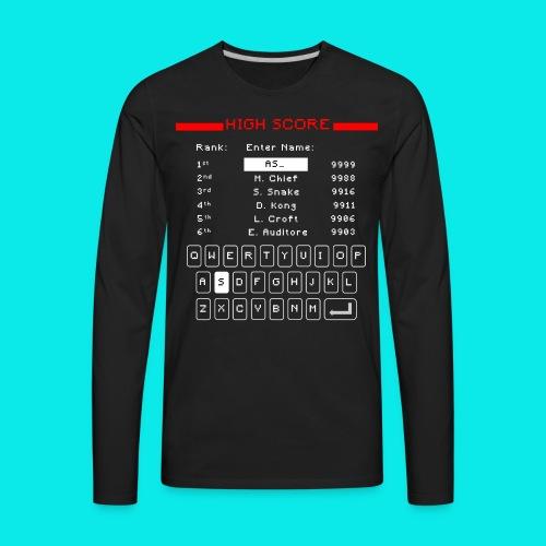 Retro High Score - Men's Premium Long Sleeve T-Shirt