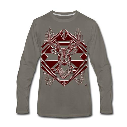 Men's Tee Grey - Men's Premium Long Sleeve T-Shirt