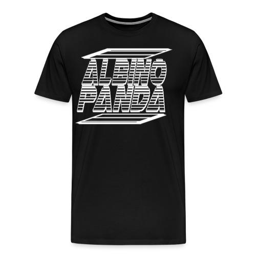 Albino Panda Logo Long Sleeve Tee (Black) - Men's Premium T-Shirt