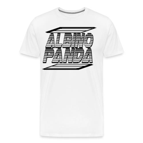 Albino Panda Logo Long Sleeve Tee (White) - Men's Premium T-Shirt