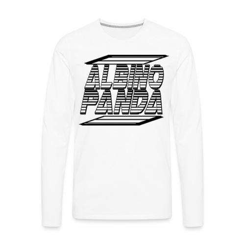 Albino Panda Logo Long Sleeve Tee (White) - Men's Premium Long Sleeve T-Shirt