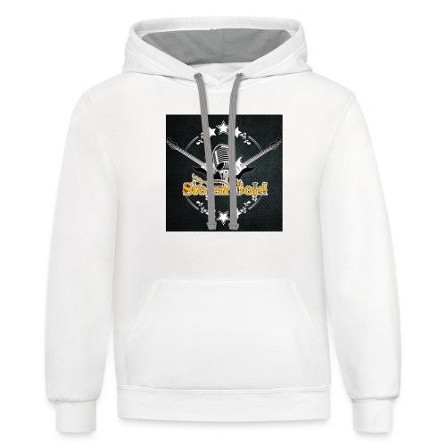 Men's t-shirt: SG logo on metal - Contrast Hoodie