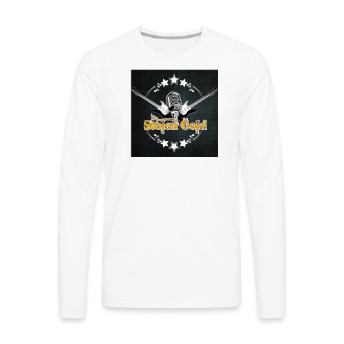 Men's t-shirt: SG logo on metal - Men's Premium Long Sleeve T-Shirt