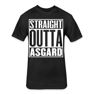 Mens Straight Outta Asgard T-Shirt - Fitted Cotton/Poly T-Shirt by Next Level