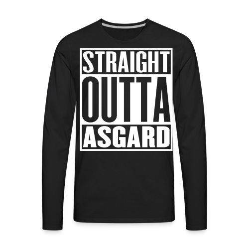 Mens Straight Outta Asgard T-Shirt - Men's Premium Long Sleeve T-Shirt