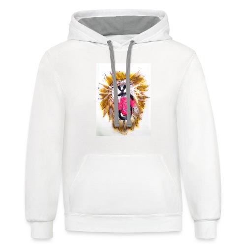 3d Lions Heart - Contrast Hoodie