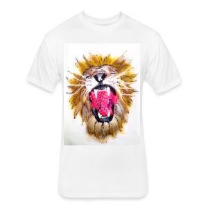 3d Lions Heart - Fitted Cotton/Poly T-Shirt by Next Level