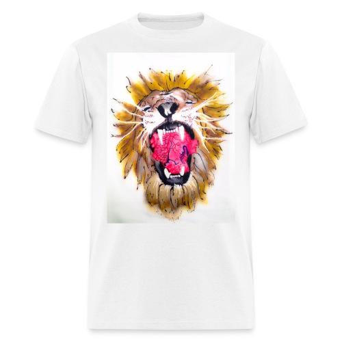 3d Lions Heart - Men's T-Shirt