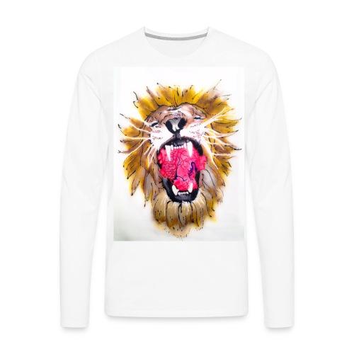 3d Lions Heart - Men's Premium Long Sleeve T-Shirt