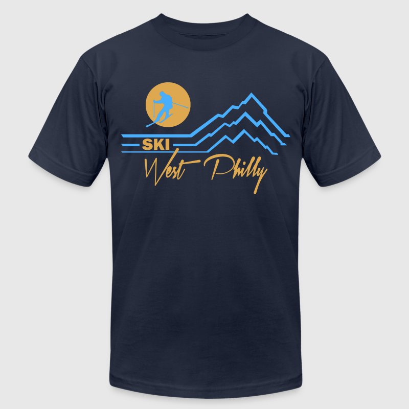 Ski West Philly  T-Shirts - Men's T-Shirt by American Apparel