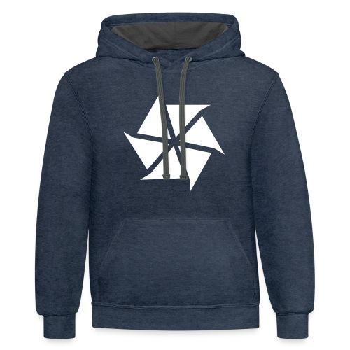 Vadact Logo :: Premium Male T-Shirt - Contrast Hoodie