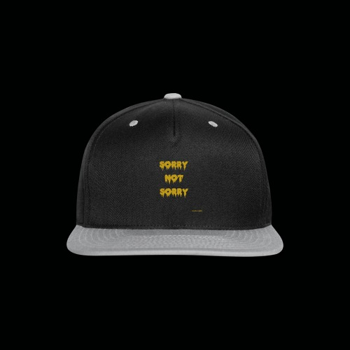 Sorry Not Sorry Brand cjfolds - Snap-back Baseball Cap