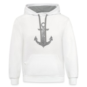 Silver Anchor Tank - Contrast Hoodie