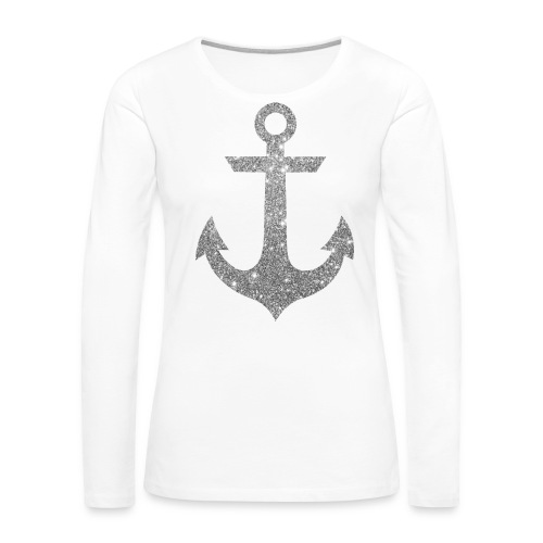 Silver Anchor Tank - Women's Premium Long Sleeve T-Shirt