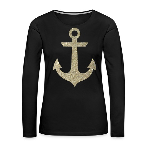 Golden Anchor Tank - Women's Premium Long Sleeve T-Shirt