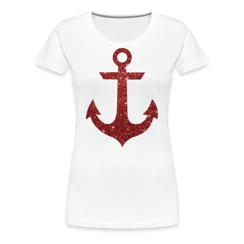 Red Anchor Tank - Women's Premium T-Shirt