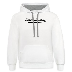 Team Awesome - Men's Baseball T-shirt - Contrast Hoodie