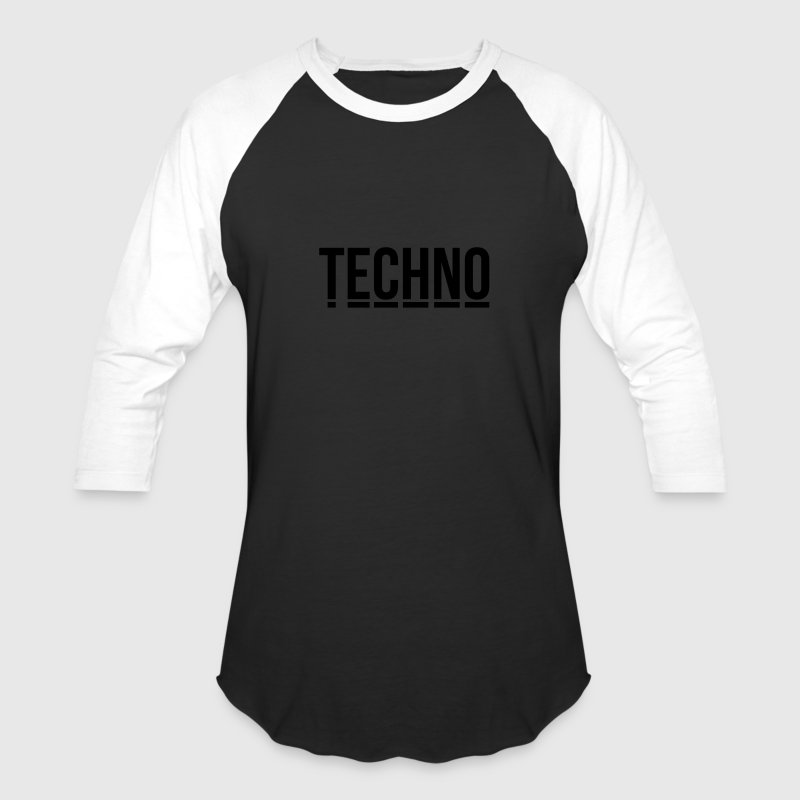 techno music club minimal Detroit Sound DJ Djane T-Shirts - Baseball T-Shirt
