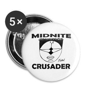 Midnite Crusader Coffee Mug - Small Buttons
