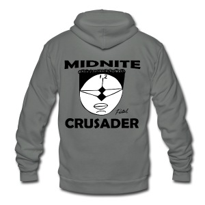 Midnite Crusader Women's T-shirt - Unisex Fleece Zip Hoodie by American Apparel
