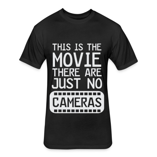 Life's a Movie - Flix and Shirts - Fitted Cotton/Poly T-Shirt by Next Level
