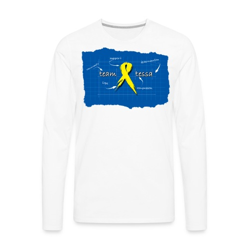 *NEW* TeamTessa Blueprint - Men's Premium Long Sleeve T-Shirt