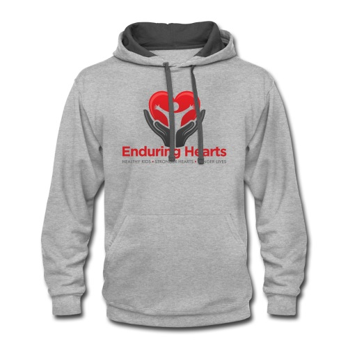 Men's tshirt with text - Contrast Hoodie
