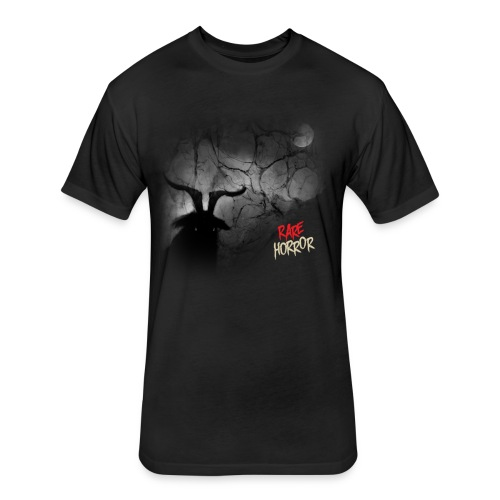 Rare Horror Black Metal - Fitted Cotton/Poly T-Shirt by Next Level
