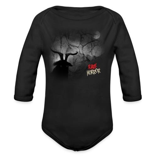 Rare Horror Black Metal - Organic Long Sleeve Baby Bodysuit
