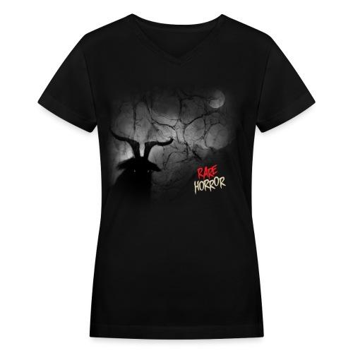 Rare Horror Black Metal - Women's V-Neck T-Shirt