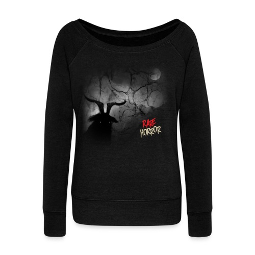 Rare Horror Black Metal - Women's Wideneck Sweatshirt