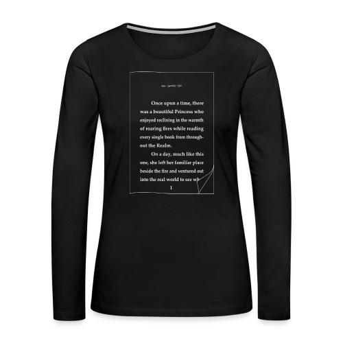 Reading Princess Story - Women's Premium Long Sleeve T-Shirt