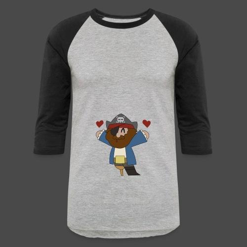 Pirate Love Two Tone Hoodie - Baseball T-Shirt