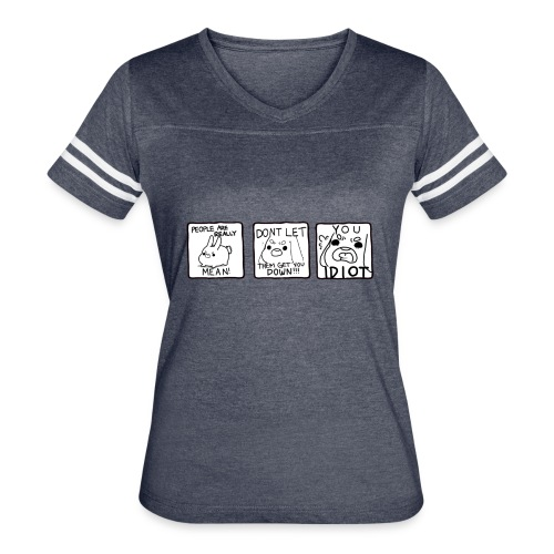 Crass Bunny Comic - Women's Vintage Sport T-Shirt