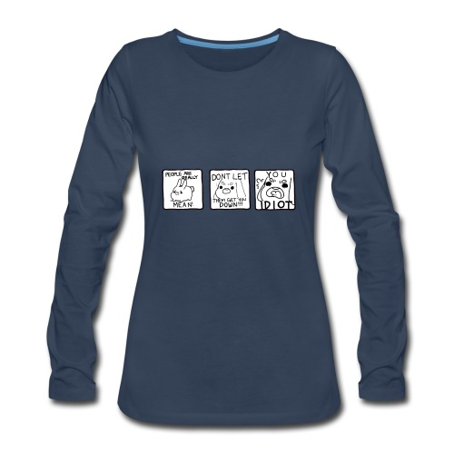 Crass Bunny Comic - Women's Premium Long Sleeve T-Shirt