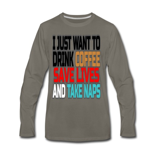 Coffee Break  - Men's Premium Long Sleeve T-Shirt