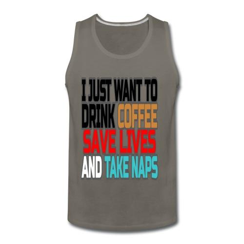 Coffee Break  - Men's Premium Tank