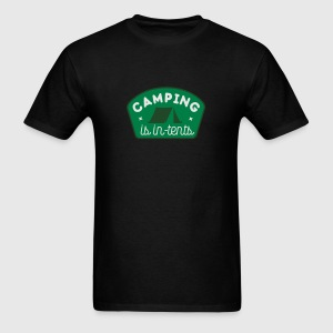 Camping is in-tents Tank Tops - Men's T-Shirt