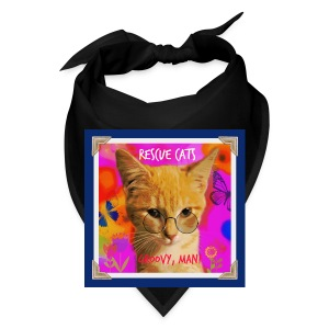 Rescue Cats Are Groovy tote bag - Bandana