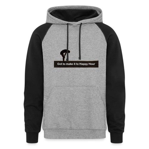 funny hoodie - Colorblock Hoodie
