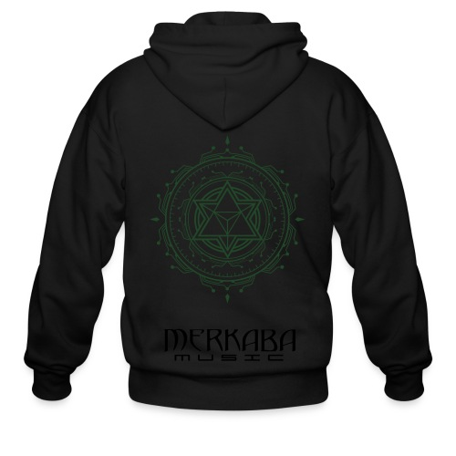 Mens Organic Merkaba Music Aeonic - Men's Zip Hoodie