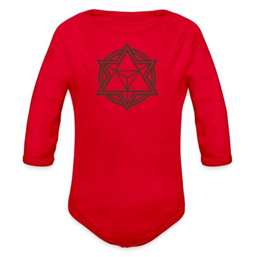 Mens Standard Merkaba Music Logo Tee - Organic Long Sleeve Baby Bodysuit