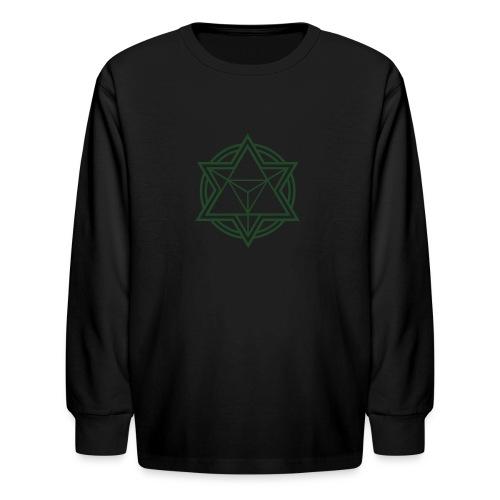 Mens Standard Merkaba Music Logo Tee - Kids' Long Sleeve T-Shirt
