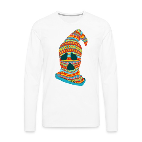Ghost Face Ski Mask - Men's Premium Long Sleeve T-Shirt