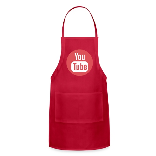 Red Youtube T-Shirt - Adjustable Apron