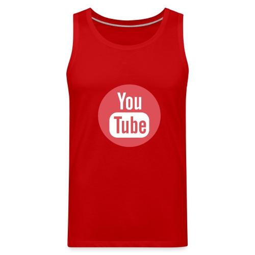Red Youtube T-Shirt - Men's Premium Tank