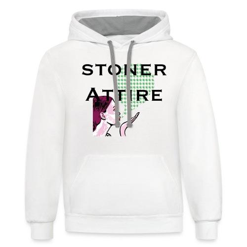 Blowing Smoke - Contrast Hoodie