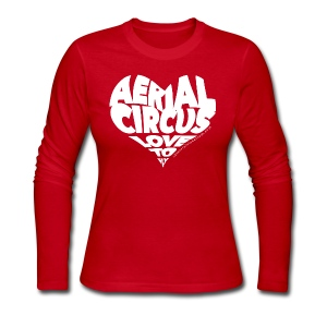 Aerial circus / Love to fly word art tank - Women's Long Sleeve Jersey T-Shirt