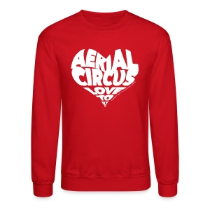 Aerial circus / Love to fly word art tank - Crewneck Sweatshirt